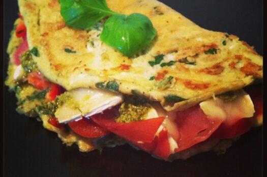 Omelet med skinke