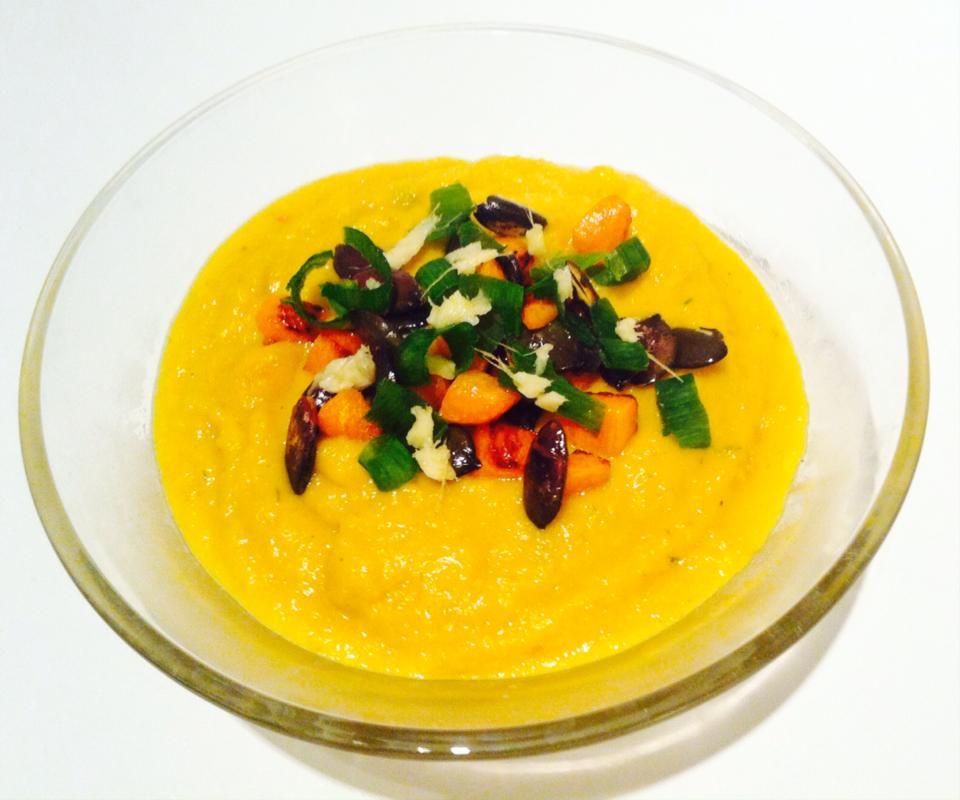 Gulerodssuppe med kokosmælk og ingefær