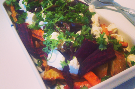 Scoresalat med kartofler, oliven og feta