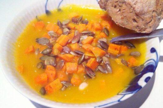 Græskarsuppe med ingefær