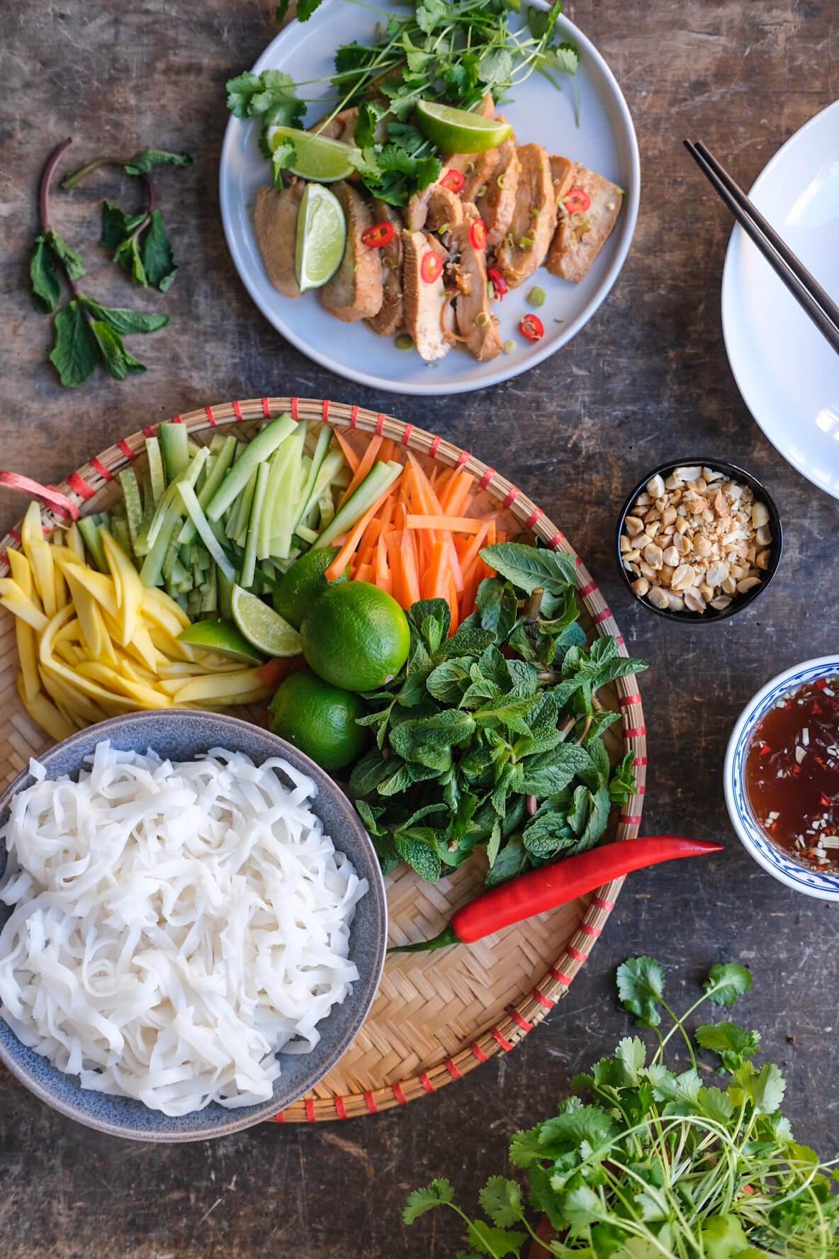 Vietnamesisk nudelsalat