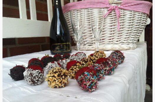 Chokoladeovertrukne jordbær