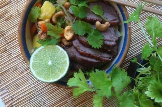 Pad thai nudler med andebryst