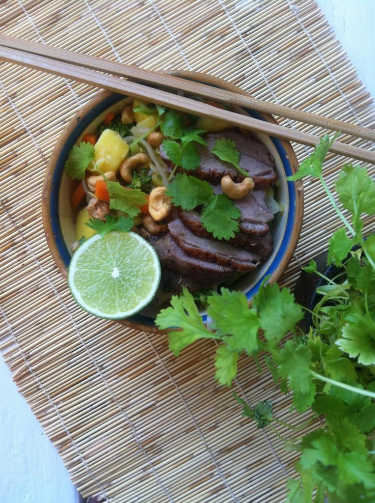 Pad thai med andebryst