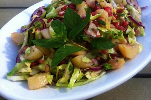 Grøn kartoffelsalat med olie-eddikedressing