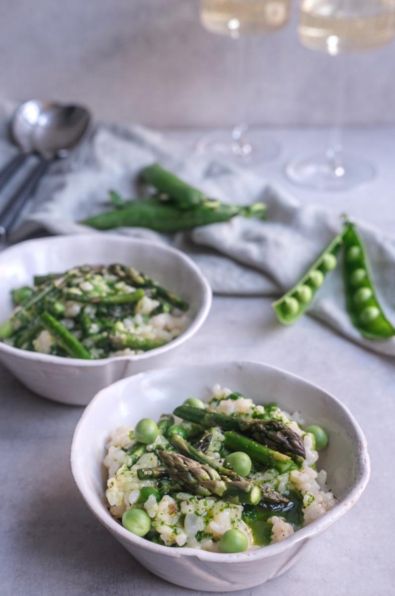 Risotto med asparges og ærter