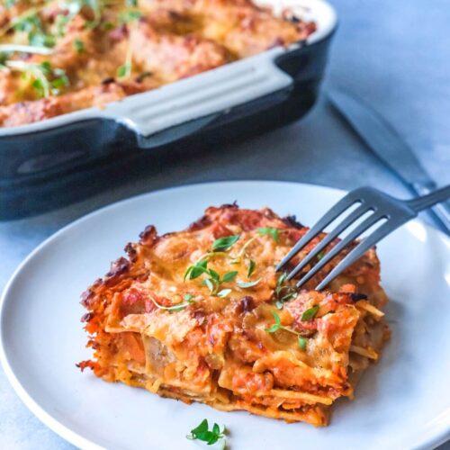Opskrift på vegetar lasagne
