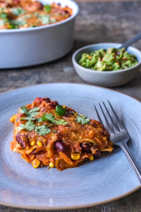 Vegetarisk mexicansk lasagne