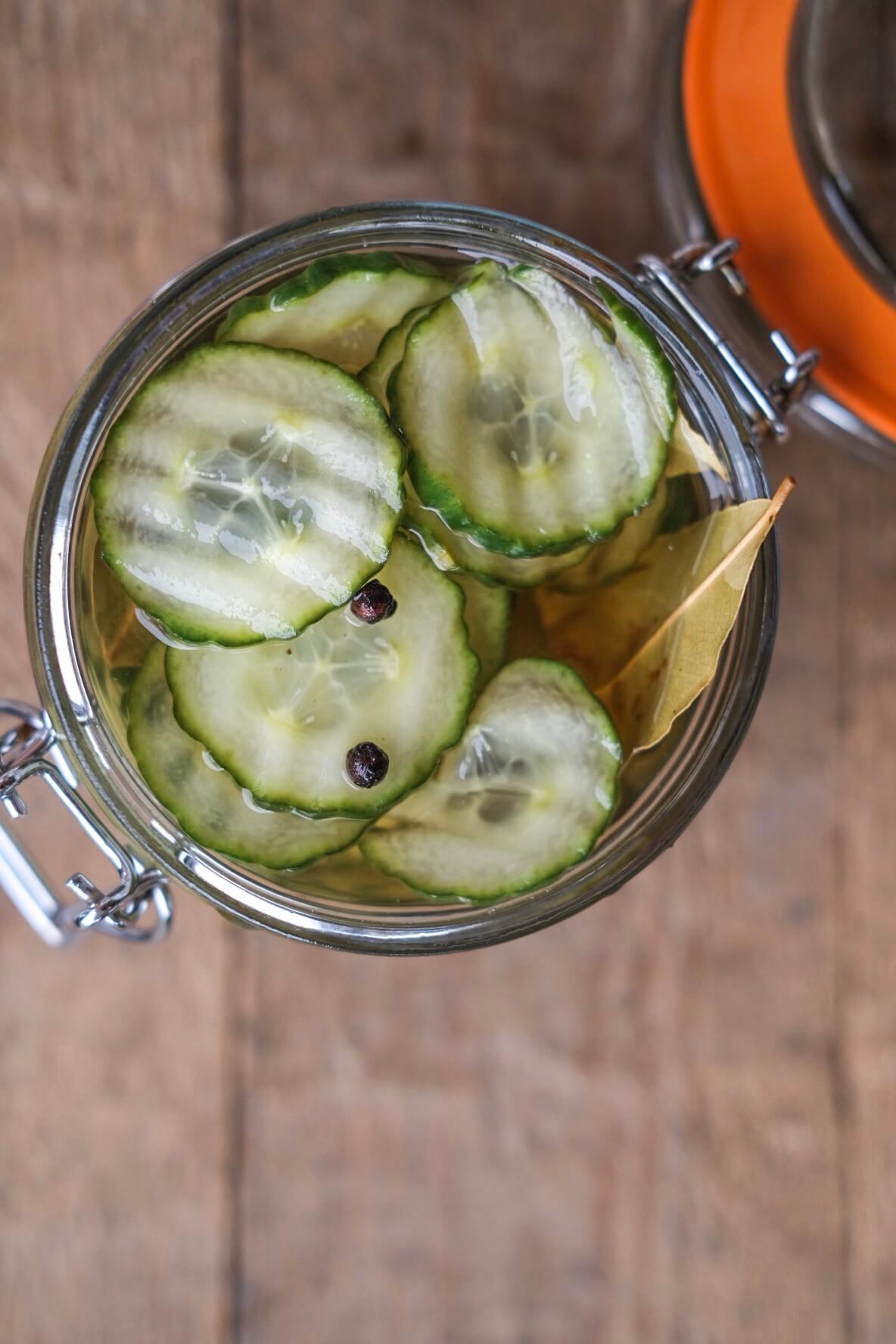 Hjemmelavede syltede agurker